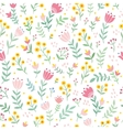 seamless with wild flowers vector image