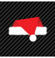 christmas red hat vector image