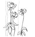 Stylish flowers vector image