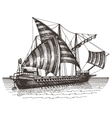 ship logo design template sailing vessel vector image