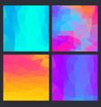a set multicolor polygon triangle triangular vector image vector image