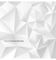 Abstract geometric background with white shapes vector image
