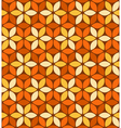 Abstract orange floral pattern vector image