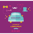 Bachelor Party Card - Wedding Invitation Card vector image vector image