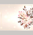 beautiful watercolor flower decoration with text vector image vector image