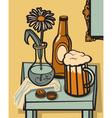 beer still life vector image