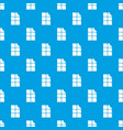 bite chocolate pattern seamless blue vector image vector image