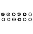 black and white gears working mechanism eps10 vector image