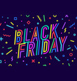 black friday greeting card banner poster and vector image