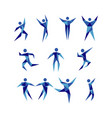 blue active people figure logo sign symbol icon vector image vector image