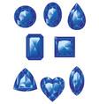 blue gemstones set vector image