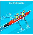 Canoe Rowing 2016 Summer Games Isometric 3D vector image vector image