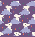 chinese rabbit in clouds pattern for chinese mid vector image vector image