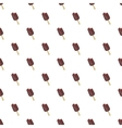 Chocolate ice cream on stick pattern cartoon style vector image