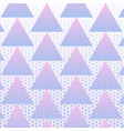 colorful triangles pattern background vector image vector image