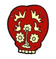 comic cartoon sugar skull vector image