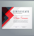 creative certificate of achievement award vector image vector image