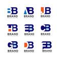 creative letter combine logo design elements vector image vector image