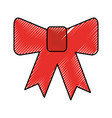 decorative bowtie isolated icon vector image vector image