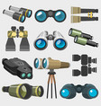 Different design binocular glasses look-see vector image