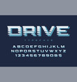 drive display font design alphabet typeface vector image vector image