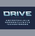 Drive display font design alphabet typeface