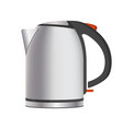 electric powerful teapot in metallic shiny corpus vector image vector image