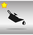 engine oil black icon button logo symbol vector image vector image