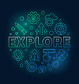 explore round modern colored linear vector image vector image