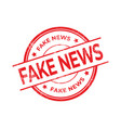 fake news red rubber stamp isolated vector image vector image