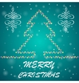 Fir-tree Christmas background vector image