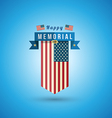 flag america to memorial day vector image vector image