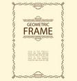 geometric line frame vector image vector image