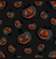 halloween horror pumpkin jack-o lantern seamless vector image vector image