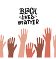 hands up different races colors nationalities vector image vector image