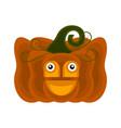 happy halloween pumpkin cartoon character vector image vector image