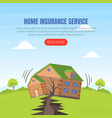 home insurance service landing page template vector image