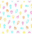 ice cream signs thin line seamless pattern vector image vector image