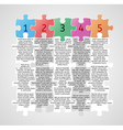 infographics - five steps with puzzle pieces vector image vector image