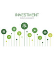 investment infographic 10 steps templateprofit vector image vector image