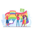 lgbt love concept cartoon vector image