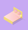 low poly isometric bed vector image vector image