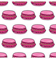 macaron seamless pattern almond french macaroon vector image