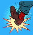 man leg kick anger aggression vector image vector image
