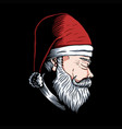 man santa side position vector image