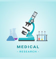 medical researh microscope isolated vector image vector image