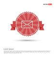 message - red ribbon banner vector image