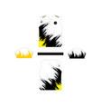 modern football jersey design template vector image