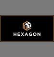 nc hexagon logo design inspiration vector image vector image