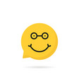 nerdy emoji speech bubble logo vector image vector image